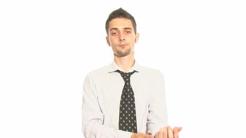 Preparing Businessman Stock Video Footage