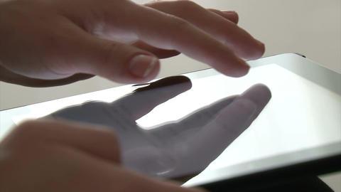 Woman using digital tablet Footage