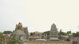 Exterior Traditional Hindu temple, South India Footage