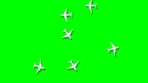 Airplane animation fly over around Animation