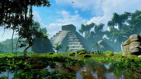 Jungle pyramid Animation