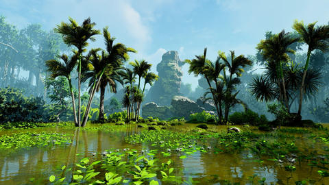 Tropical jungle and swamp Animation