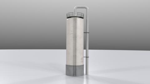 Distillation tower01 3D Model