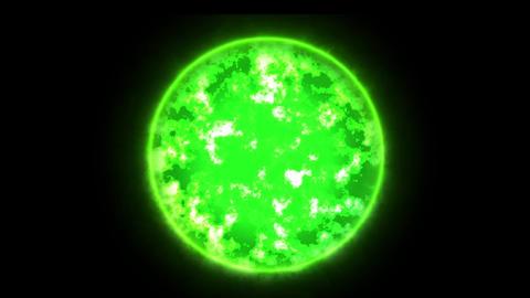 Green glowing fireball Animation