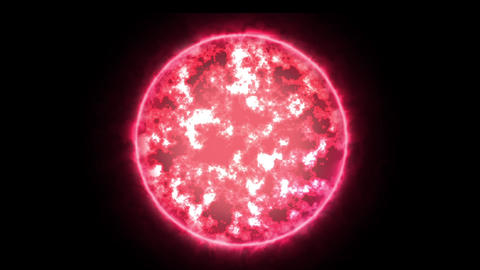 Red glowing fireball Animation