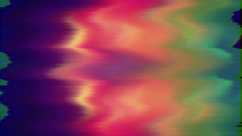 Colorful vintage futuristic trendy glittering background. Vhs tape footage Live Action