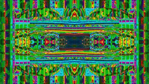 Multicolored ornamental vaporwave trendy glittering background. Corrupted Live Action