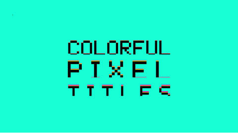 Colorful Pixel Titles Premiere Proテンプレート