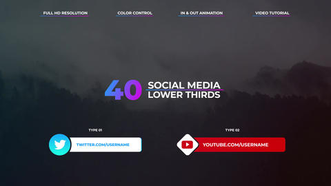 Social Media Lower Thirds Apple Motion Template