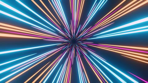 3d Warp Loop Star Burst 1