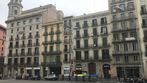 Barcelona, Spain. A tall building in Auditorium Building Live Action