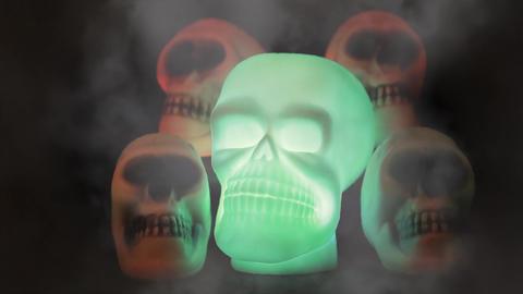Spooky Burning Skulls Footage