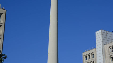 World clock and TV Tower in Alexanderplatz Live Action