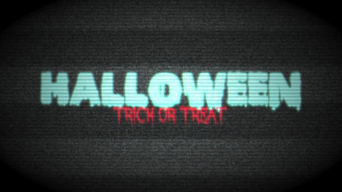 Halloween Haunted TV Footage