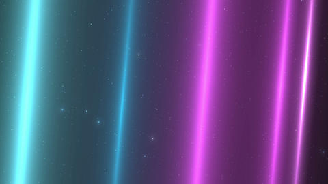 [Loop]Light blue and purple floating in space Animation