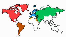 World Map Slow sketch illustration hand drawn animation transparent Animation