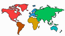World Map sketch illustration hand drawn animation transparent Animation