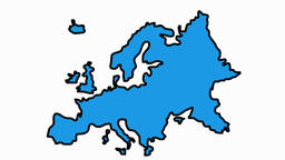 Europe Map sketch illustration hand drawn animation transparent Animation