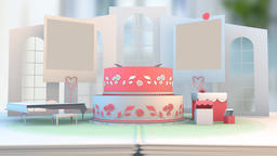 Wedding Animation Newly Wed couple bride groom animation, Stock Animation