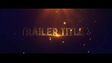 Trailer Title V 3 After Effects Project