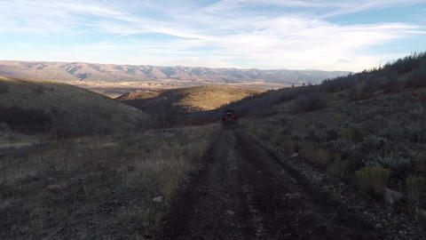 Mountain trail evening off road 4x4 ride recreation POV HD 989 Footage