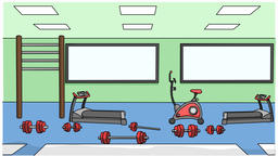 gym sketch illustration hand drawn animation transparent Animation