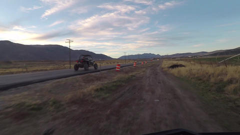 Off road 4x4 sports vehicle race road and trail POV HD 991 Footage