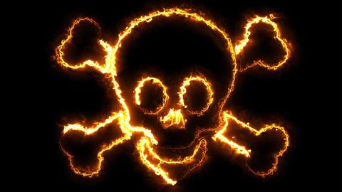 Halloween Skull Loop Animation