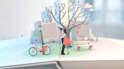 Wedding Animation 3 cartoon style bride groom Footage