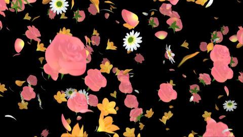Flying Flower Animation