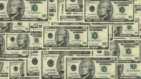 4k Float 10 dollars money wealth background Live Action