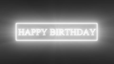 HAPPY BIRTHDAY Text_neon Animation