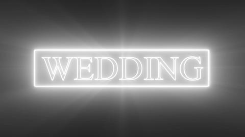 WEDDING Text_Neon Animation
