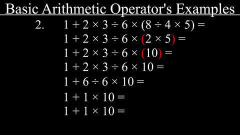 Example of Mathematics Operator's Priority (BODMAS) Animation