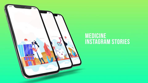 Medicine - Instagram stories Plantilla de After Effects