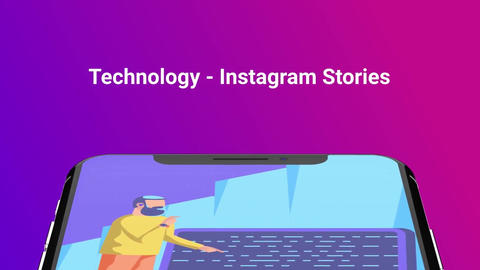 Technology Flat - Instagram stories After Effects Template