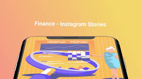 Finance Flat - Instagram stories After Effects Template