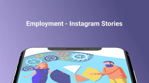 Employment Flat - Instagram stories After Effects Template