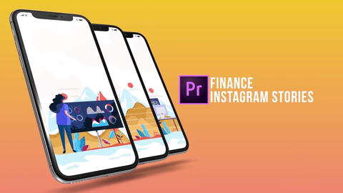 Finance - Instagram stories Plantillas de Motion Graphics