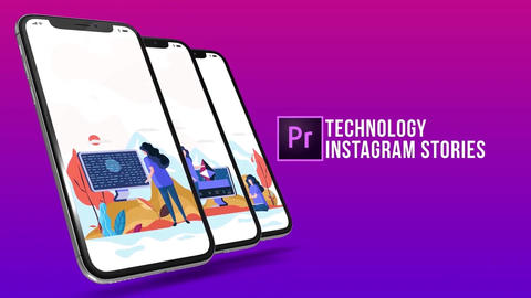 Technology - Instagram stories Plantillas de Motion Graphics