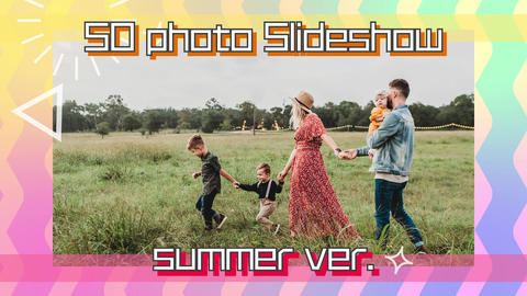 50 photo Slideshow-summer ver After Effectsテンプレート