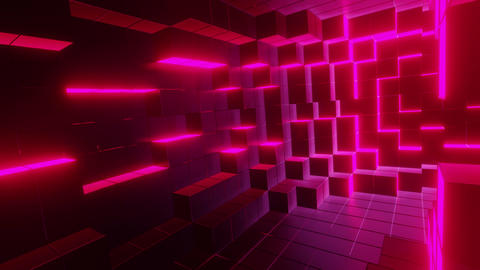 Pink cubic tunnel Animation