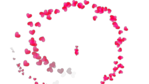 Particle hearts Animation