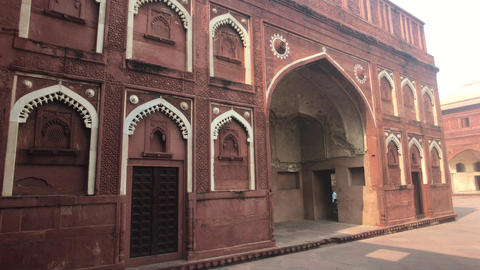 Agra, India, November 10, 2019, Agra Fort, fragment of the historic building on Live Action