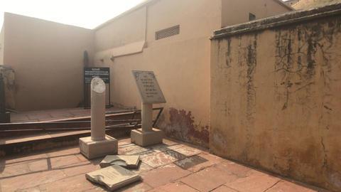 Jaipur, India, November 05, 2019, Amer Fort, fragments of historical artifacts Live Action