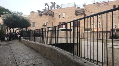 Jerusalem, Israel - beautiful streets of the evening city part 8 Live Action