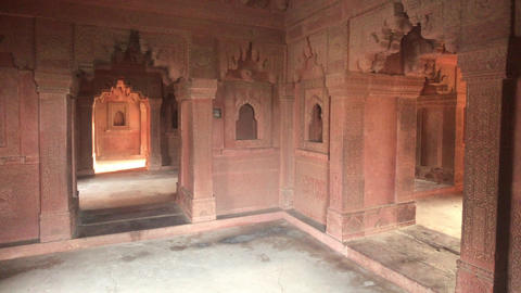 Fatehpur Sikri, India - historic buildings of the ancient city part 4 Live Action