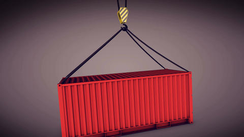3d rendering of a shipping container Animation