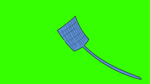 Fly Swatter in Action (Cartoon): Loop + Matte Animation