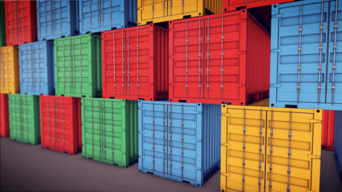 Stack of Cargo Containers Stock Video Footage